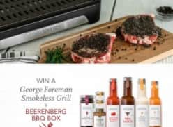 Win a George Foreman Smokeless Grill and a Beerenberg BBQ Box