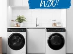 Win a Haier washer and dryer set