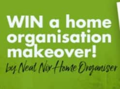 Win 1 of 3 home organisation makeovers from Neat Nix Home Organiser, including Red Dot storage!