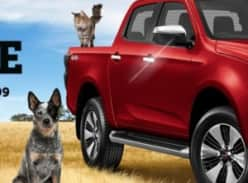 Win an Isuzu D-MAX Ute  or 1 of 50 $100 EFTPOS Gift Cards