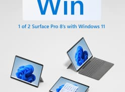 Win 1 of 2 Microsoft Surface Pro 8 Devices & Surface Pro Signature Keyboard with Slim Pen