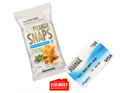 Win 1 of 3 $200 PIRANHA VISA Gift Cards or 1 of 15 Cartons of 50g Snaps