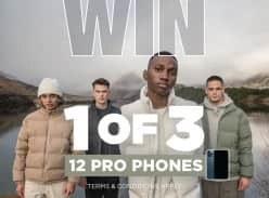 Win 1 of 3 iPhone 12 Pro Handsets
