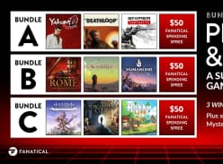 Win 1 of 3 PC Game Bundles and $50 Fanatical Credit or 1 of 100 Mystery PC Game Codes
