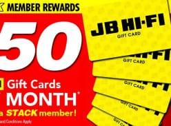 Win 1 of 30 $50 JB Hi-Fi Gift Cards