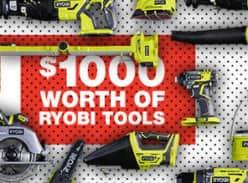 Win 1 of 5 $1,000 Ryobi Tool Packs