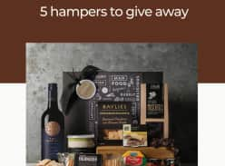 Win 1 of 5 Cheese & Wine Hampers