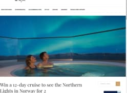 Win a 12-Day Cruise to See The Northern Lights in Norway for 2
