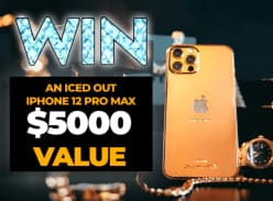 Win a 24K Gold Plated Apple iPhone 12 Pro Max with Cubic Zirconia Apple Logo