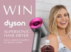 Win a Dyson Supersonic Hair Dryer and Rochway Beauty Sleep Prize Pack