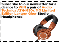 Win a Pair of Audio Technica ATH-M50x MO Lantern Glow Headphones