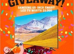 Win a Samsung 65 Inch Smart LED TV
