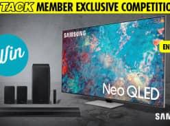 "Win a Samsung 75"" QN85A Neo QLED 4K TV & Sound Bar"