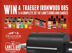 Win a Traeger Ironwood 885 BBQ & Lane's BBQ Products