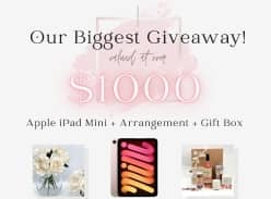 Win an Apple iPad Mini 64GB and Flower Arrangement with Gift Box