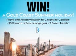 Win Flights + Hotel for 2 Nights for 2 People to Gold Coast + $500
