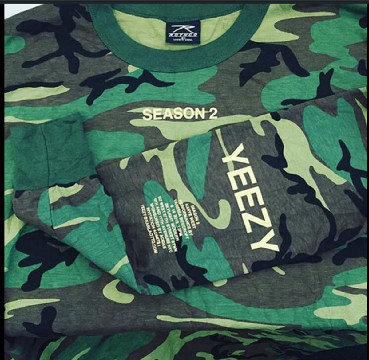 Kanye wests yeezy season 2 invites are printed on 13 camo long kanye wests yeezy season 2 invites are printed on 13 camo long sleeve t shirts complex stopboris Gallery