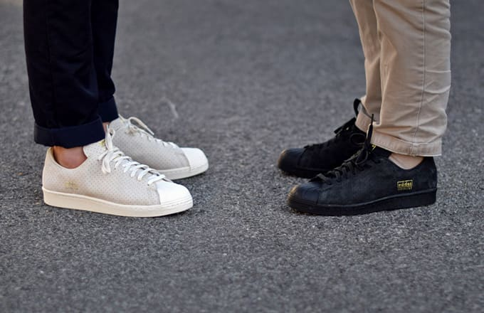 Black Superstar 80S Clean sneakers adidas bZv6iYM