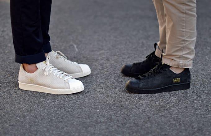 Black Superstar 80S Clean sneakers adidas