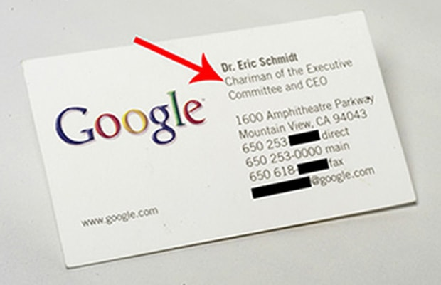 Michael dell gallery 11 cool business cards of famous tech ceos eric schmidt google colourmoves