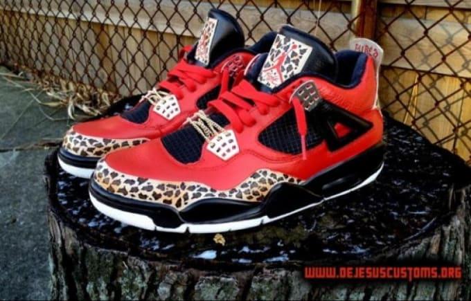 Big Discount Nike Air Jordan 6 Cheap sale Jungle Fever Custom