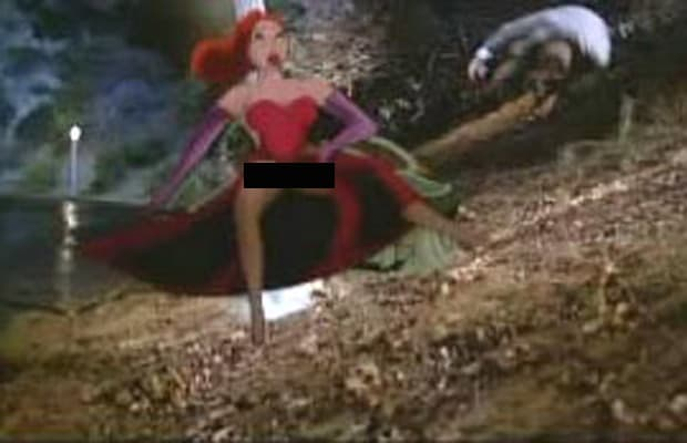 Jessica Rabbit\'s Crotch Shot in Who Framed Roger Rabbit (1988) - A ...