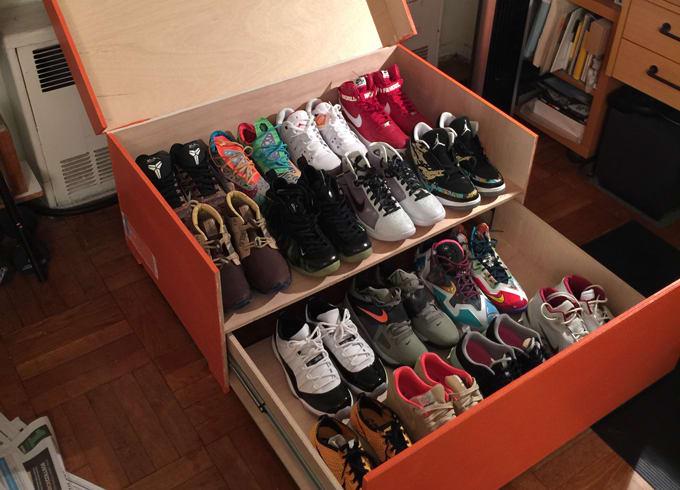 Delightful Nike Sneaker Box Storage (via @theprofessor113)