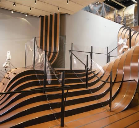 Charming Longchamp NYC Store Staircase