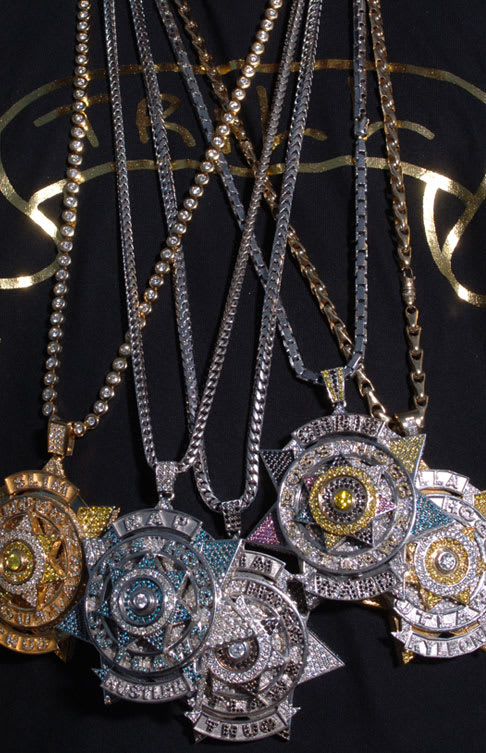 grillz hop men gold fine diamond chains hip watches and pin real for jewelry