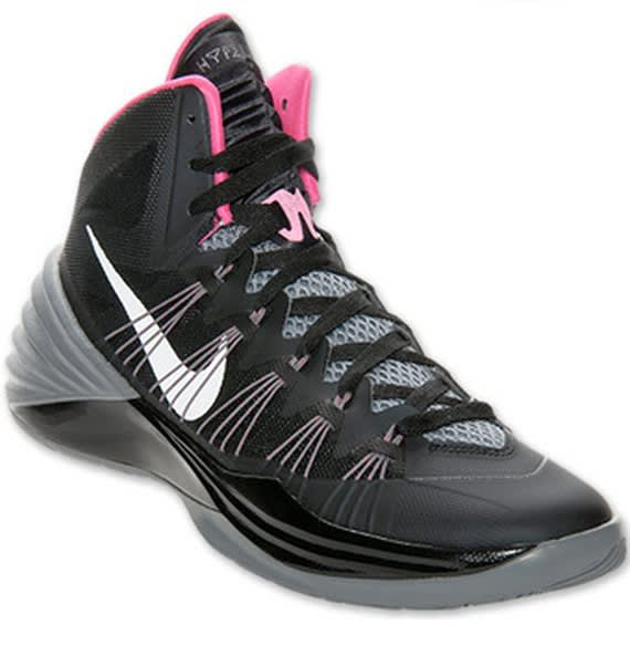 nike pink black and grey hyperdunks