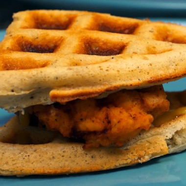 Chicken and Waffle Sliders, Southern Style