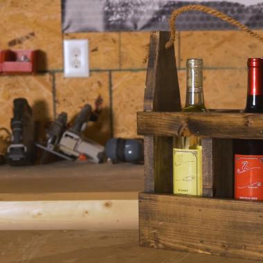 Red Hot Buildin': Wine Holder