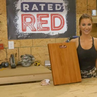 Red Hot Buildin': Cutting Board