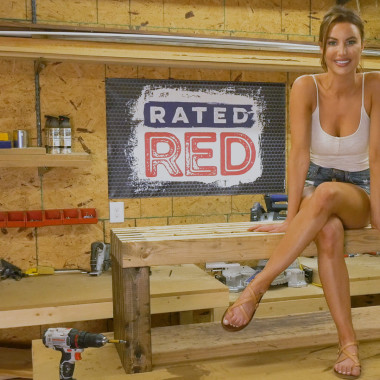 Red Hot Buildin': Outdoor Bench