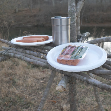 Making a DIY Prep Table for Campfire Cooking