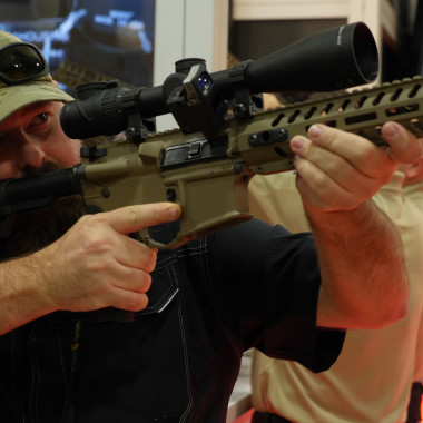Alabama Boss Stops By the Trijicon Booth at Shot Show 2018