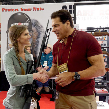 Lou Ferrigno Talks AirForce Air Rifles at Shot Show 2018