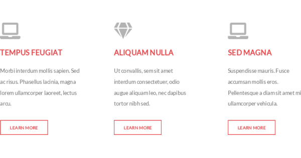 responsive icon links section