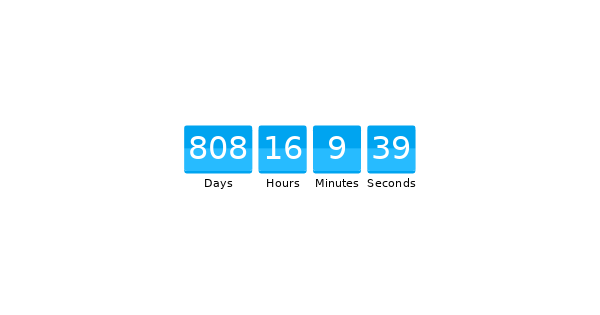 Simple configurable countdown