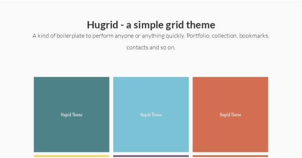 Hugrid grid template gallery