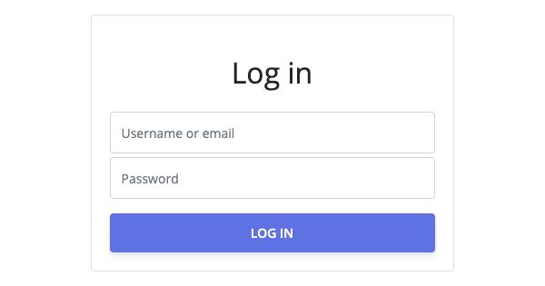 Login form (Userfront old)