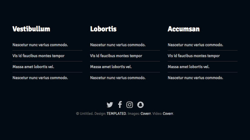 Footer with links