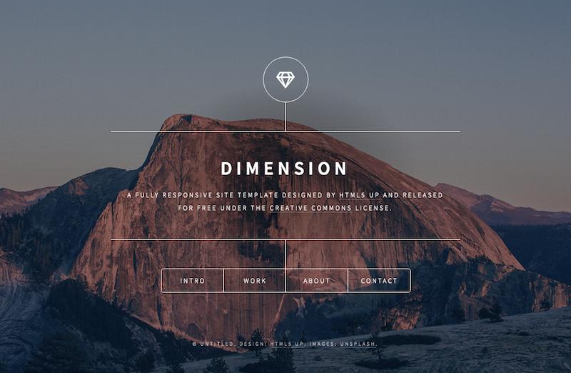 Single page theme - Dimension