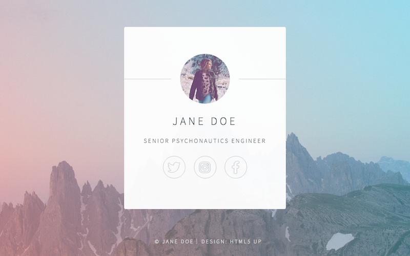 Identity solo portfolio page