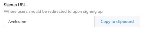 Signup URL