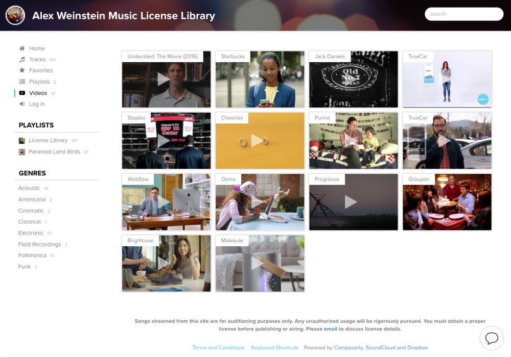 Composerly - Create your own production music library