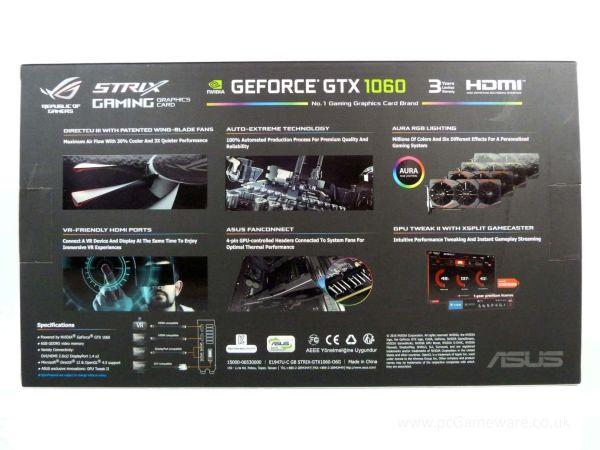 VIDEO ASUS ROG STRIX GTX1060 6GB OC C