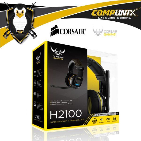 AUDIFONOS WIRELESS GAMER CORSAIR H2100