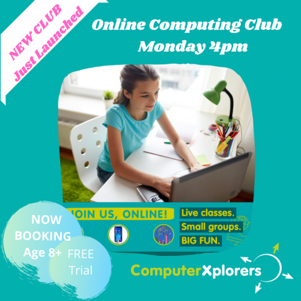 Weekly Online Computing Club - Monday 4pm