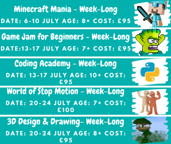 Online Summer Holiday Camps 2020